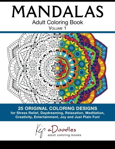 Mandalas Volume 1 Adult Coloring Book
