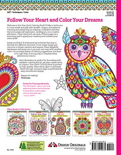 Free Spirit Coloring Book Is Fun