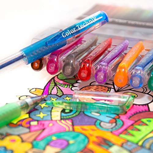 Best Gel Pen Colors With Premium Comfort Grip Enhance Your Adult Coloring Book Experience Now Perfect Gift Idea