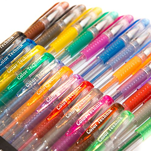 Glitter Gel Pens from Color Technik Set of 12 Professional Artist ...