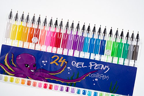 Coloring Pens for Your Art with 24 pcs Gel Pens by Octopupens ...